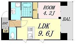 第26関根マンション 8階1LDKの間取り