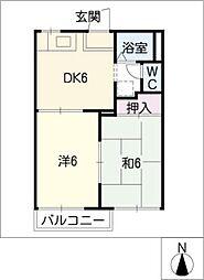 アネックス小川B棟[1階]の間取り