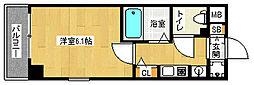 「エステムコート京都烏丸II」[4階]の間取り