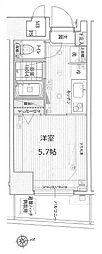 京王線 初台駅 徒歩5分の賃貸マンション 7階1Kの間取り