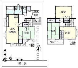 [一戸建] 埼玉県春日部市豊町2丁目 の賃貸【/】の間取り
