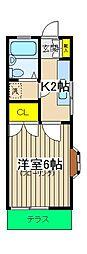 桜ヶ丘エスプリー[101号室]の間取り