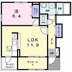 セントレア貝塚II[1階]の間取り