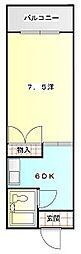 森島コーポ[309号室]の間取り