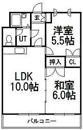 北海道札幌市豊平区平岸六条17の賃貸マンションの間取り