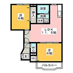 リセスガーデン1[1階]の間取り