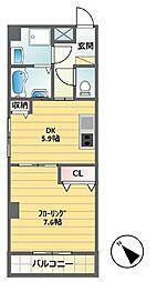 ボナール本町[301号室]の間取り