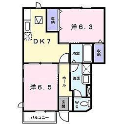 栄ビサイドパークB[0101号室]の間取り