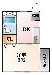 ロイヤル小松[2階]の間取り