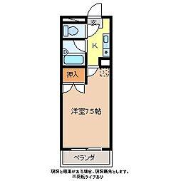 アブリール三輪田町[3階]の間取り