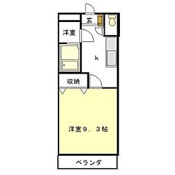 ユースハイム[2階]の間取り