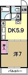 コーラルマンション[305号室]の間取り