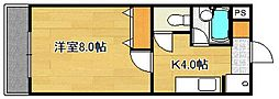 コーポアザミ[1階]の間取り