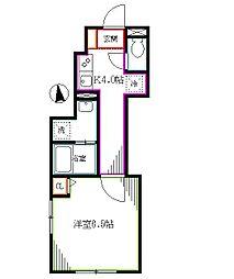 東京メトロ丸ノ内線 南阿佐ヶ谷駅 徒歩12分の賃貸アパート 1階1Kの間取り
