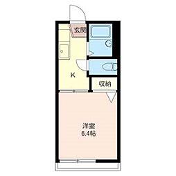 MASTサンコーポ六高台103号室[103号室]の間取り