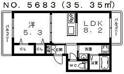 オレンジT3[1階]の間取り