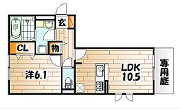 M・K・K下富野[3階]の間取り