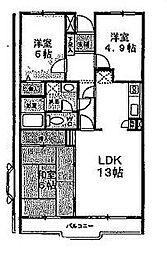 グレースハイツ松丸[2階]の間取り