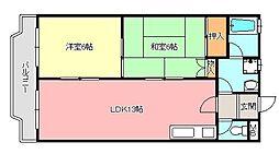グリーンハイツ須賀[2階]の間取り