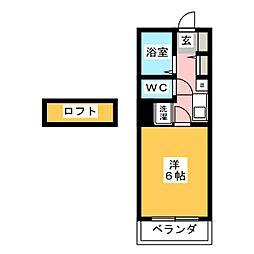 パークグラシア[2階]の間取り