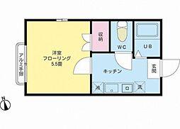 東京都足立区花畑3丁目の賃貸アパートの間取り