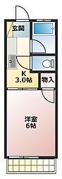 第17アオイビル[2階]の間取り