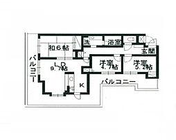 エスポワール新松戸[3階]の間取り
