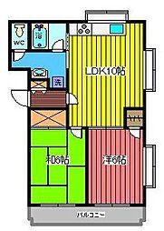 ベルメゾン元町[1階]の間取り