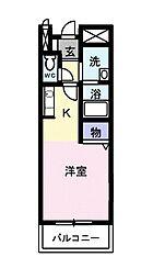 メゾンコリーヌムサシノ[2階]の間取り