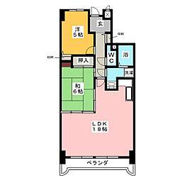 アメニティ雁道[7階]の間取り