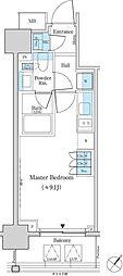 都営新宿線 馬喰横山駅 徒歩4分の賃貸マンション 7階ワンルームの間取り
