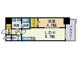 モダンパラッツォ天神北2[11階]の間取り