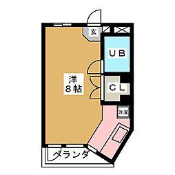 旭コンフォート越路[5階]の間取り