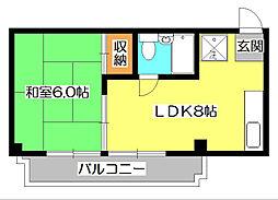 ランドフォレスト所沢[3階]の間取り