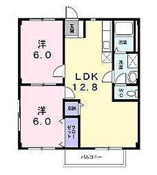 リヴァシャレー[2階]の間取り