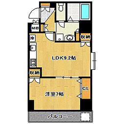 千葉県船橋市市場2丁目の賃貸マンションの間取り