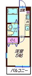 ハーミットクラブハウス六角橋IIIA棟(仮)[2階]の間取り