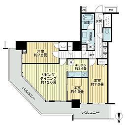 RYU:X TOWER The[7階]の間取り