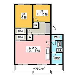 新津コーポ[2階]の間取り