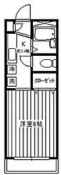 早稲田WEST[103号室]の間取り