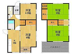 [一戸建] 兵庫県宝塚市光明町 の賃貸【/】の間取り