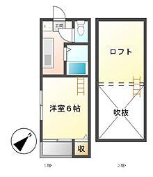 アパートメント51[1階]の間取り