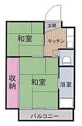徳島県徳島市名東町1丁目の賃貸マンションの間取り