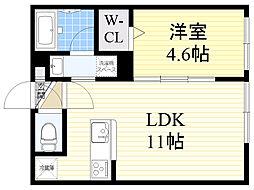 札幌市電2系統 西線9条旭山公園通駅 徒歩5分の賃貸マンション 1階1LDKの間取り
