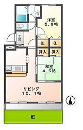 岐阜県可児市今渡の賃貸アパートの間取り