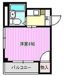 シャルル桜木[3階]の間取り