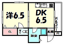 Four Seasons Hatazuks[2階]の間取り