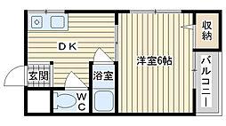 第5摂津ハイツ[101号室]の間取り