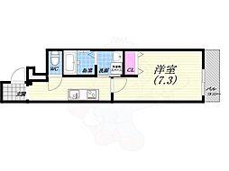 JR東海道・山陽本線 西宮駅 徒歩6分の賃貸アパート 1階1Kの間取り