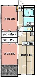 アドバンスM−2[1階]の間取り